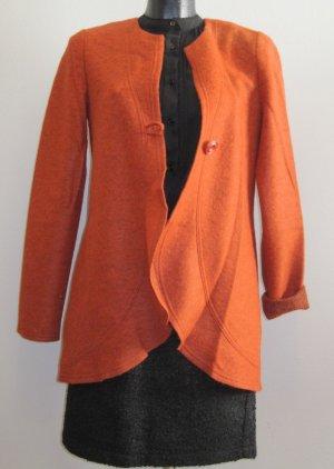 Wollen Jack donker oranje