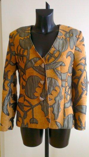 Tweed Blazer silver-colored-light brown mixture fibre