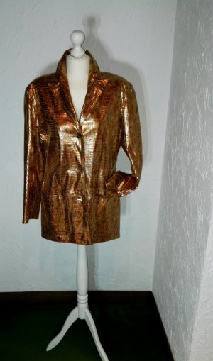 Pielini Leather Blazer gold-colored-russet leather