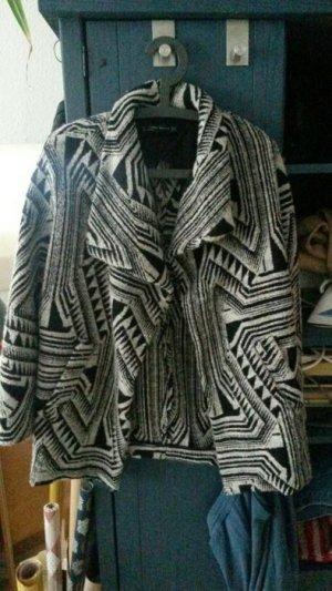 Zara Manteau court noir-argenté