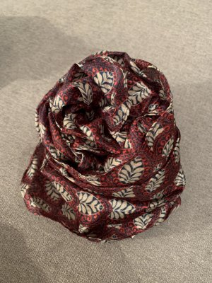H&M Silk Scarf bordeaux-dark blue silk