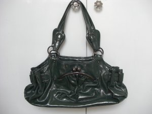 Carry Bag dark green leather