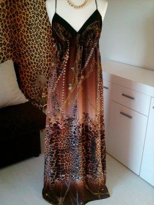 Extravagantes Kleid mit Kettendruck