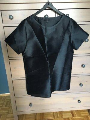 COS Short Sleeved Blouse dark blue