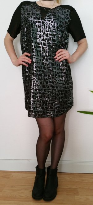 Extravagantes Paillettenkleid von Sparkle & Fade in Schwarz-Silber