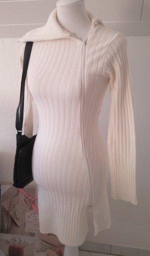extravagantes Pulli-Kleid,weiß,mit seitlichem Reißverschluss,Gr.S/36,sexy