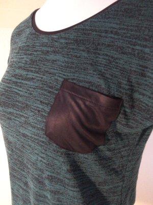 extravagantes Shirt mit aufgesetzter Brusttasche,grün,Gr.36