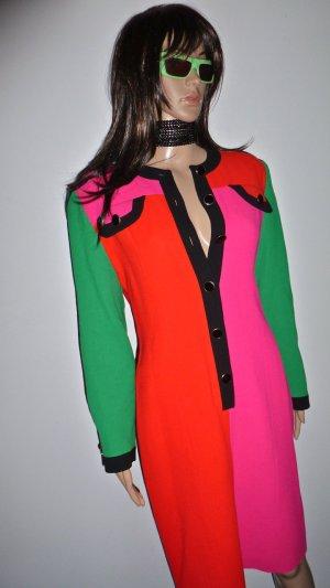Vestito di lana multicolore Lana
