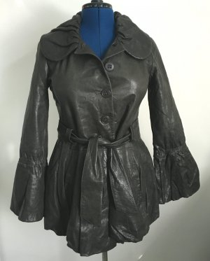 Armani Collezioni Leather Jacket black leather