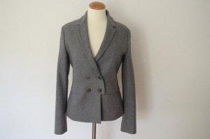 extrem hochwertige taillierte Blazer Jacke mit Kaschmir grau meliert
