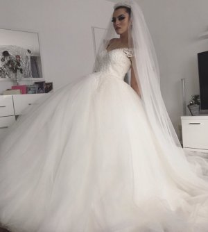 cinderella Wedding Dress white-natural white