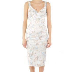 Dolce & Gabbana Vestido de tubo azul pálido-azul celeste fibra textil