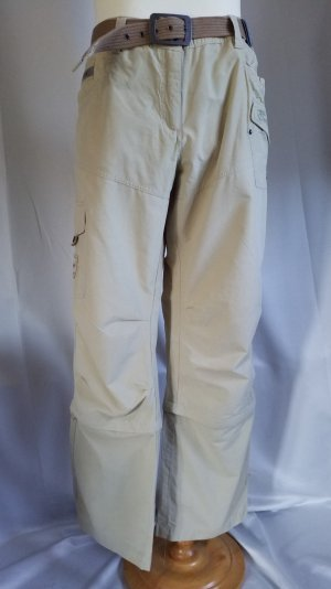 Exxtasy, Trekkinghose, Zipperhose lang und 3/4, beige, Gürtel, Gr. 46