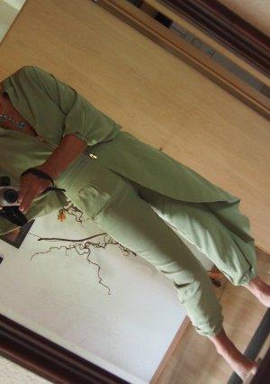 Anna Rita N Tailleur-pantalon vert clair tissu mixte