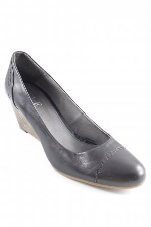 Eye Keil-Pumps schwarz-hellbraun Casual-Look