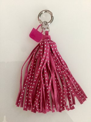 O bag Key Chain neon red-magenta