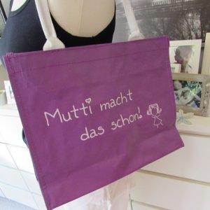 EyeCatcher * Süße Shopper Tasche * lila-weiß Sprücheprint * NEU