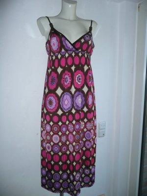 Eyecatcher Trägerkleid mehrfarbig Blüten Print Hippie Festival Style Gr 36-38
