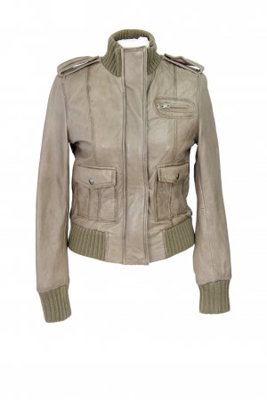 F&F Collection Lederjacke in Beige