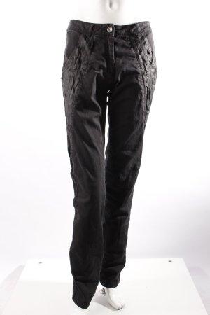 f.rau High Waist Jeans schwarz
