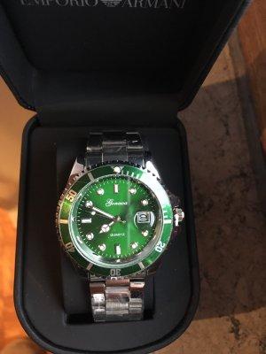 Orologio automatico argento-verde