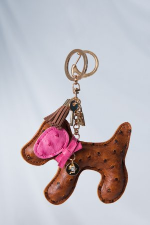 Key Chain brown imitation leather