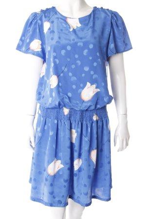FAB208NYC Kleid Blumenmuster Blau