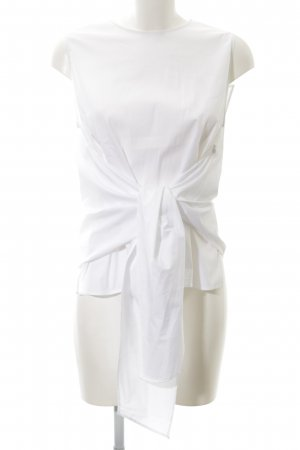 Fabiana Filippi ärmellose Bluse weiß Elegant