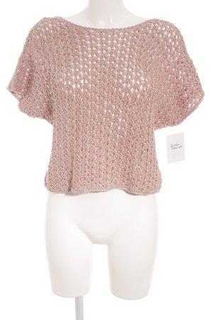 Fabiana Filippi Crochet Top salmon-beige loosely knitted pattern simple style