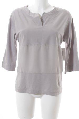 Fabiana Filippi Schlupf-Bluse graubraun-hellbeige schlichter Stil