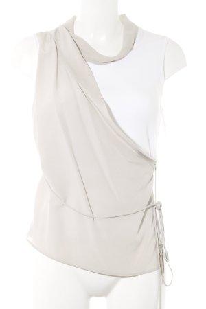 Fabiana Filippi Seidentop weiß-hellbeige Elegant