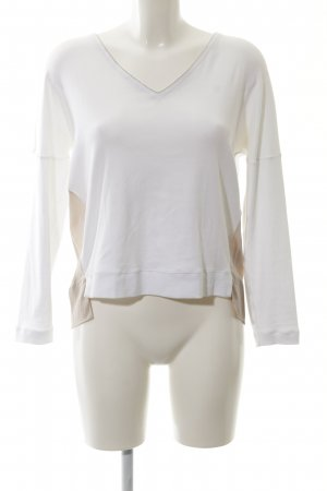 Fabiana Filippi Strickpullover weiß-nude schlichter Stil