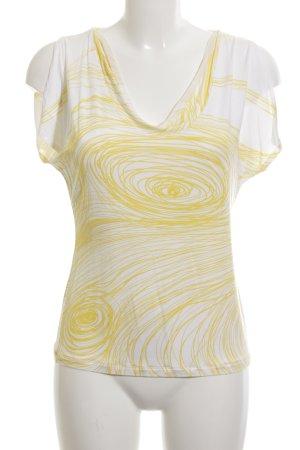 Fabiana Filippi T-Shirt weiß-gelb abstraktes Muster Casual-Look