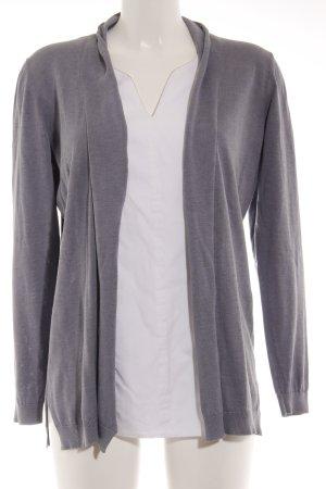 Fabiana Filippi V-Ausschnitt-Pullover graublau-wollweiß Elegant