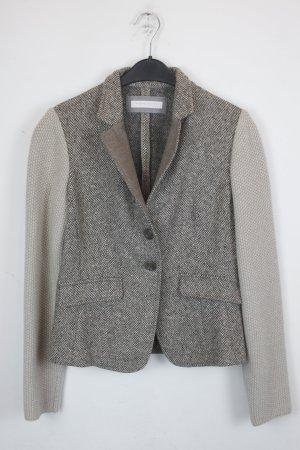 FABIANA FILIPPI Wolljacke Blazer Gr. 38 beige grau (18/9/075)