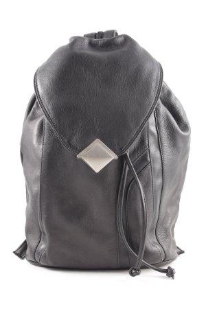 Fabiani Mini sac à dos noir style décontracté