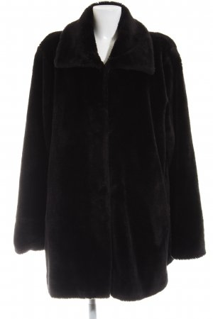 Fabiani Fake Fur Coat black casual look