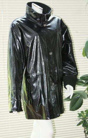 Fabiani lange gefütterte Kunstlack Jacke XL