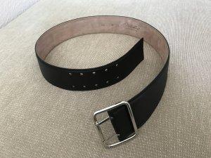 Fabiani Ledergürtel 90 schwarz breit neu Leder Gürtel