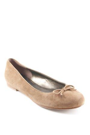 Fabiani Strappy Ballerinas light brown beach look