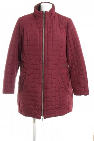 Fabiani Quilted Coat red quilting pattern casual look