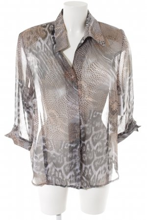 Fabiani Transparenz-Bluse Animalmuster Animal-Look