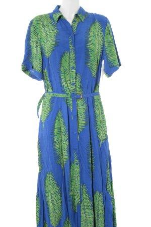Fabienne Chapot Vestido camisero azul-verde estampado floral Estilo playero