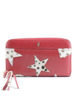 Fabienne Chapot Portafogli rosso-crema motivo astratto stile country
