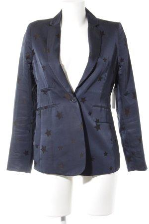 Fabienne Chapot Blazer de esmoquin azul oscuro-negro Patrón de estrellas