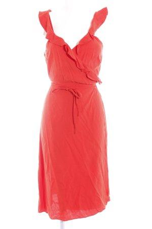 Fabienne Chapot Vestido cruzado rojo claro elegante