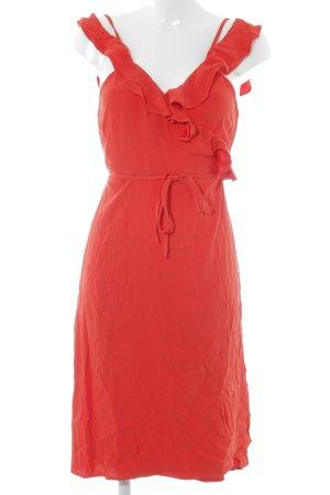 Fabienne Chapot Vestido cruzado rojo elegante