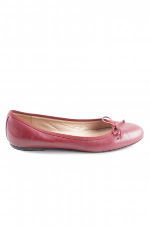 fabio rusconi Lakleren ballerina's rood casual uitstraling