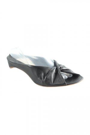 fabio rusconi Peep Toe ballerina's zwart zakelijke stijl