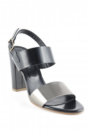 fabio rusconi Strapped High-Heeled Sandals black-gold-colored elegant